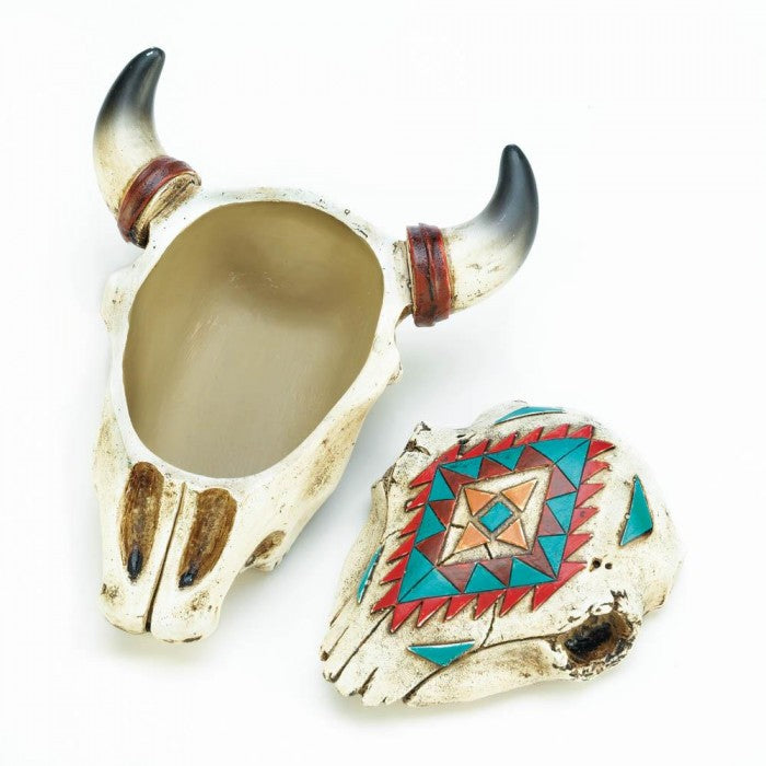 Aztec Ox Skull Trinket Box - Giftspiration