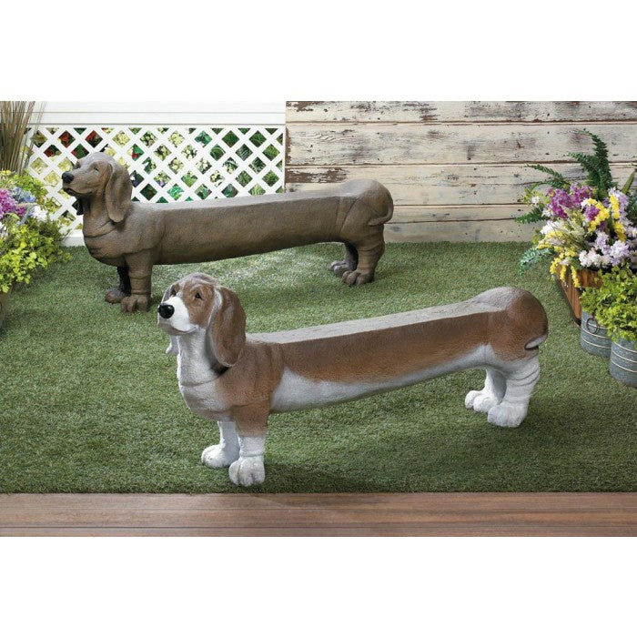 Basset Hound Outdoor Bench - Giftspiration