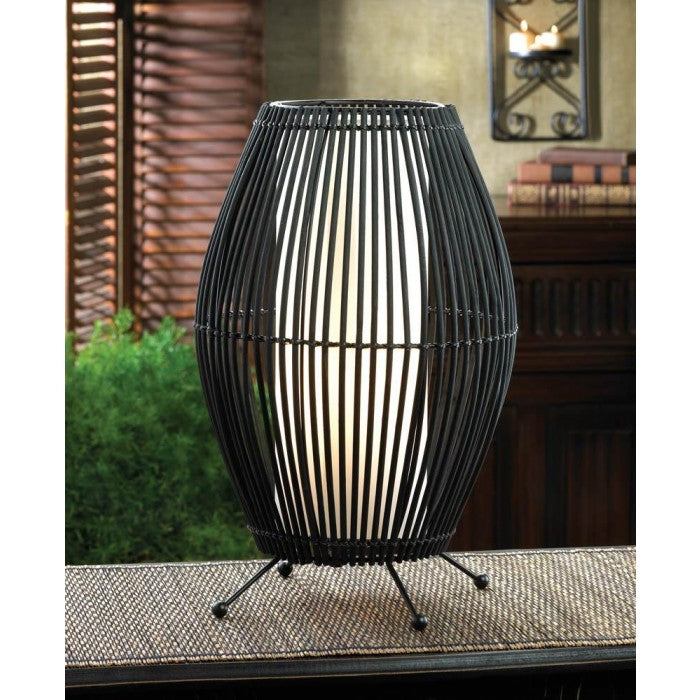Black Metal Slat Convex Lamp - Giftspiration