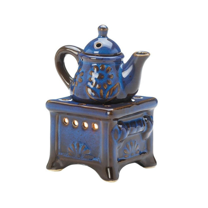 Blue Teapot Stove Oil Warmer - Giftspiration