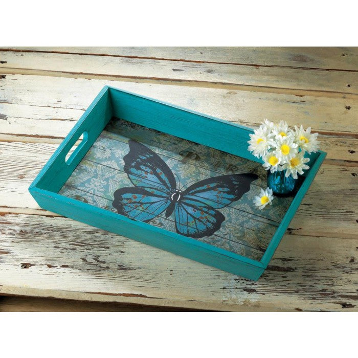 Blue Butterfly Serving Tray - Giftspiration