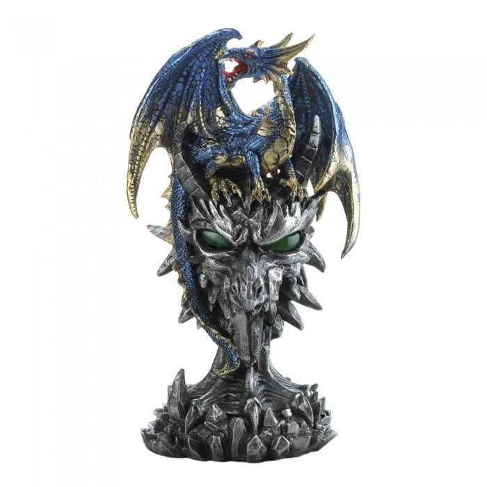 Blue Dragon Warrior Statue - Giftspiration