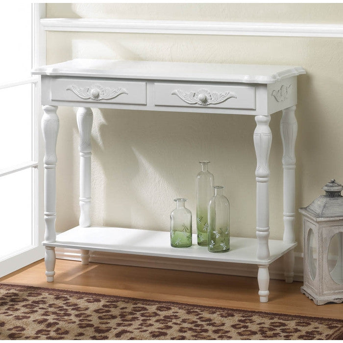 Carved White Hallway Table - Giftspiration