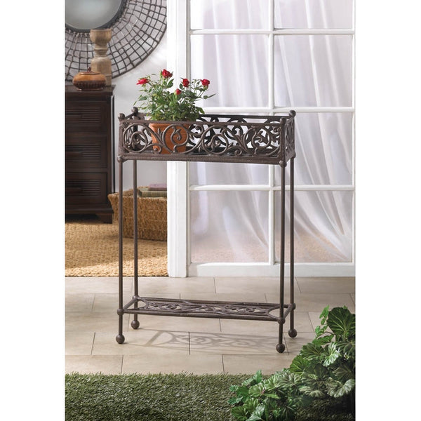 Cast Iron Plant Stand Two Tier