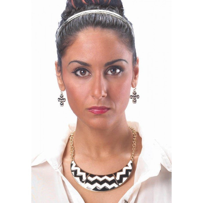 Chevron Necklace & Earrings Set - Giftspiration