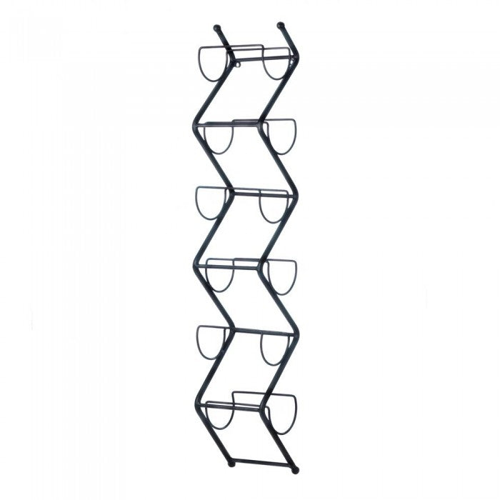 Chevron Wine Wall Rack - Giftspiration