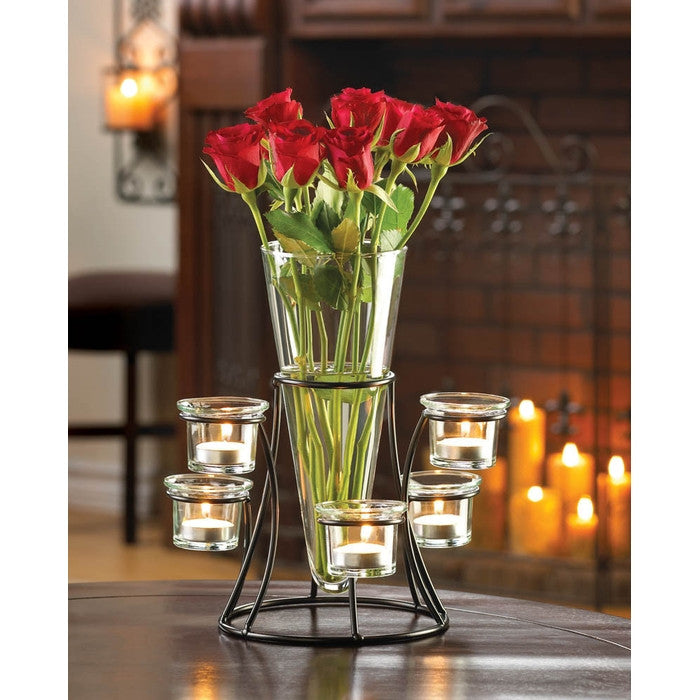 Circular Candle Stand Centerpiece Vase - Giftspiration