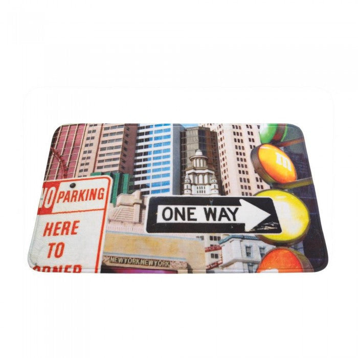 City Traffic Signs Floor Mat - Giftspiration