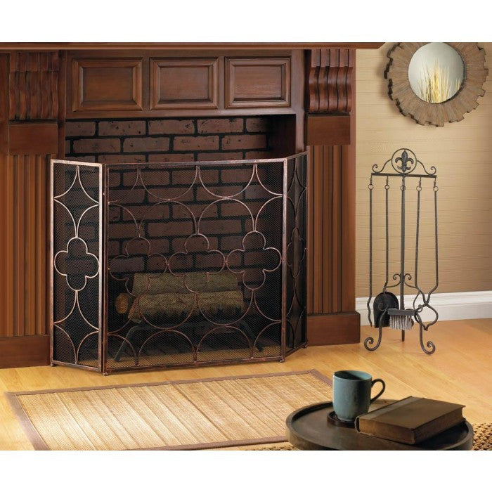 Clover Fireplace Screen - Giftspiration