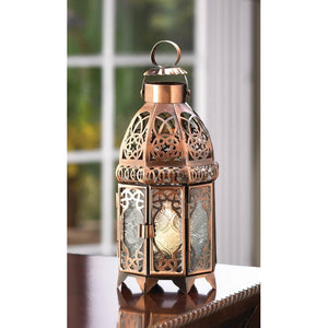 Copper Moroccan Candle Lamp - Giftspiration