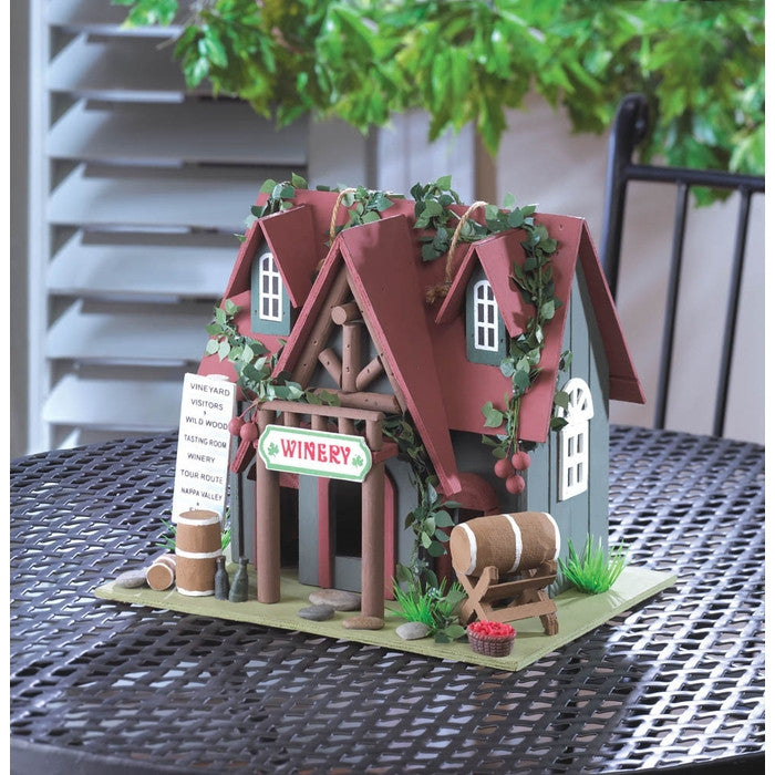 Cottage Winery Bird House - Giftspiration