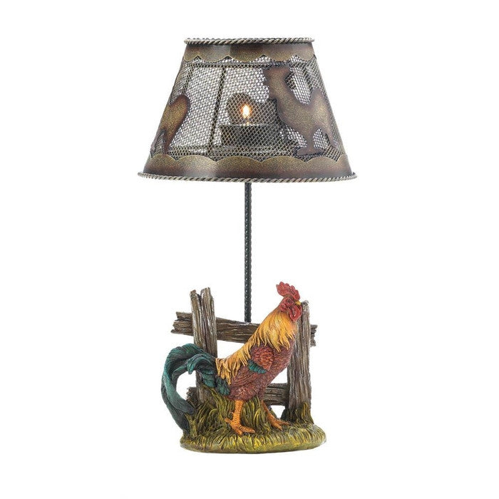 Country Rooster Candle Lamp - Giftspiration