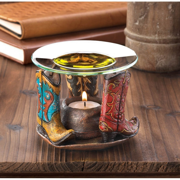 Cowboy Boots Oil Warmer - Giftspiration