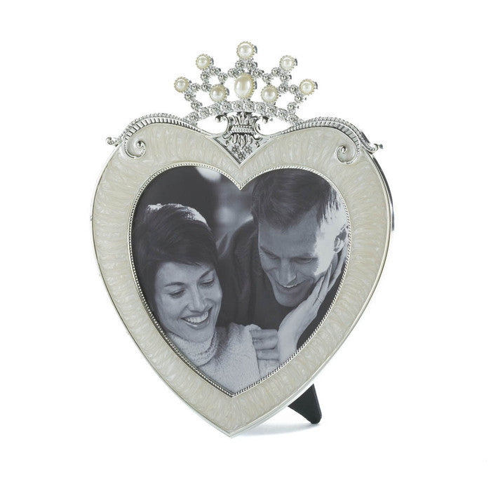 Crown Heart Picture Frame 5 X 5 - Giftspiration