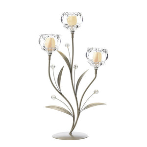Crystal Flower Triple Candle Holder - Giftspiration