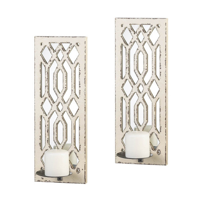 Deco Mirror Wall Sconce Set - Giftspiration