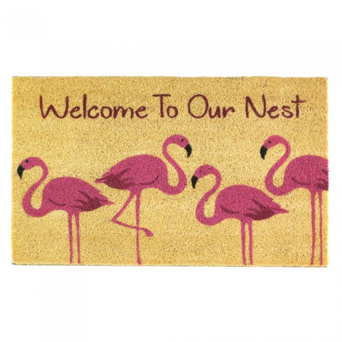 Flamingo Family Welcome Mat - Giftspiration