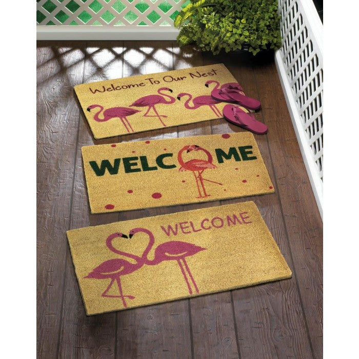 Flamingo Love Welcome Mat - Giftspiration