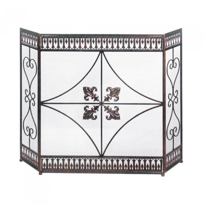 Fleur-De-Lis Fireplace Screen - Giftspiration