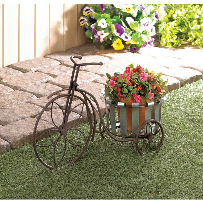 Galvanized Bucket Bicycle Plant Stand - Giftspiration