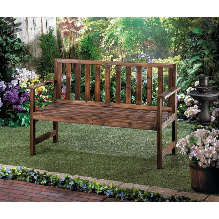 Garden Grove Wood Bench - Giftspiration