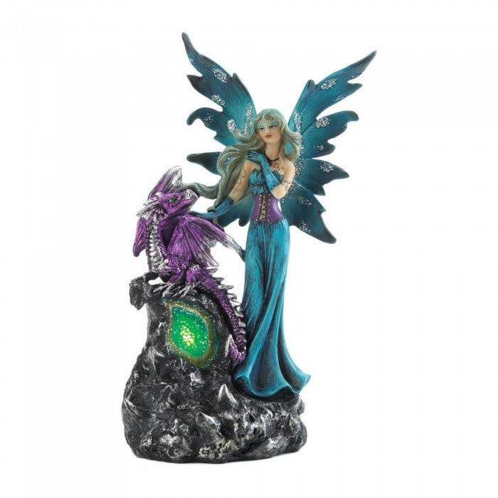 Gothic Fairy And Dragon Figurine - Giftspiration