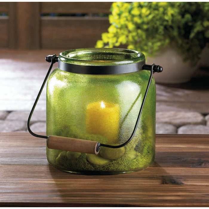 Green Jar Candle Lantern - Giftspiration