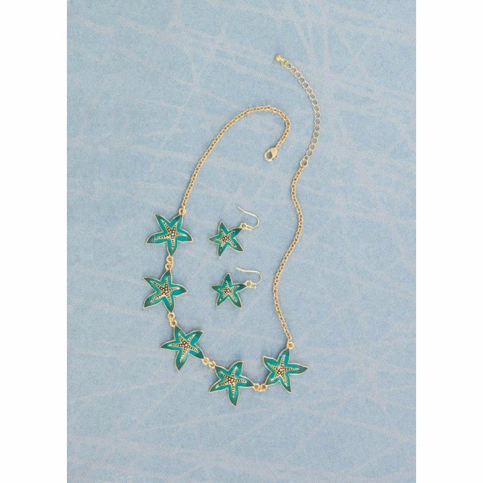 Green Starfish Jewelry Set - Giftspiration