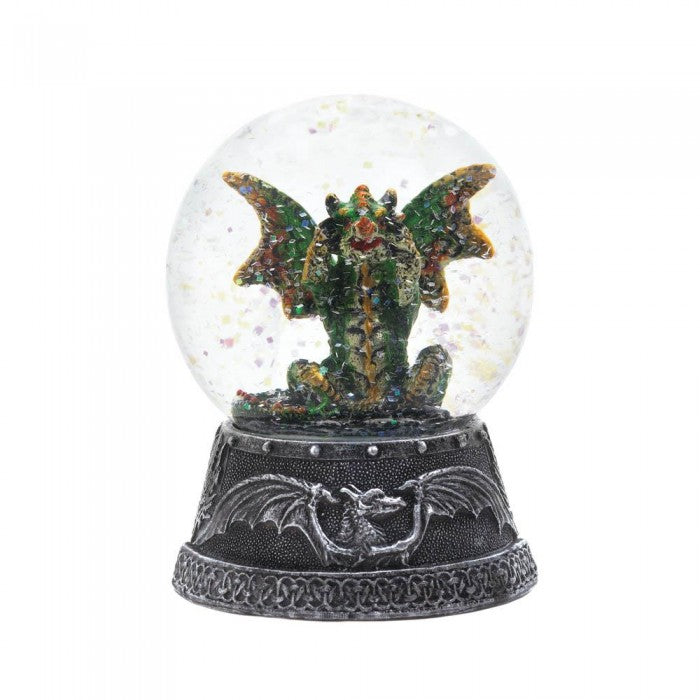 Green Dragon Water Globe - Giftspiration