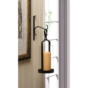 Hanging Hurricane Glass Wall Sconce - Giftspiration