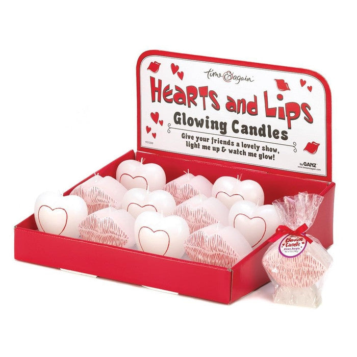 Hearts & Lips Glowing Candles - Giftspiration