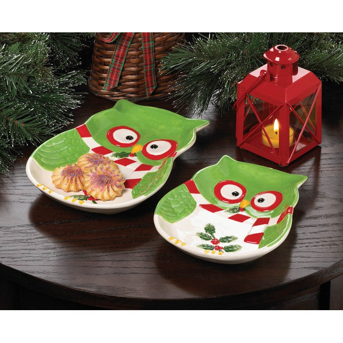 Holiday Hoot Large Plate - Giftspiration