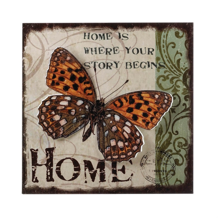 Home Butterfly 3-D Wall Art - Giftspiration