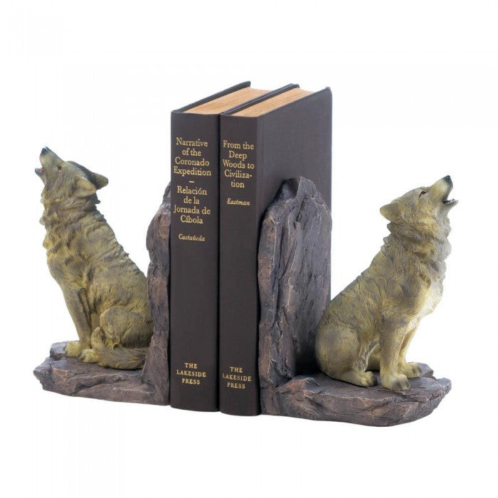 Howling Wolf Bookends - Giftspiration