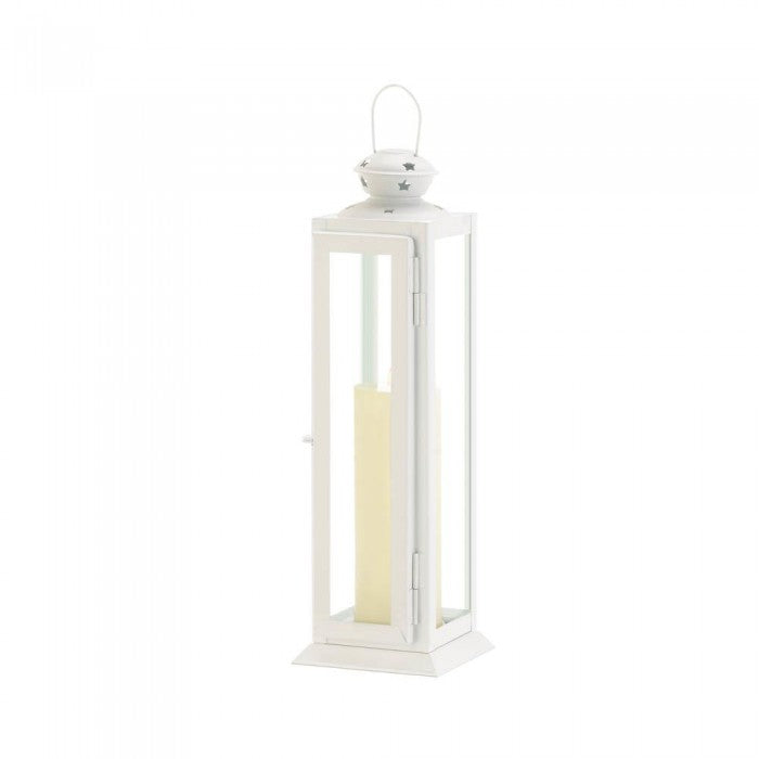 Large Cutout White Lantern - Giftspiration