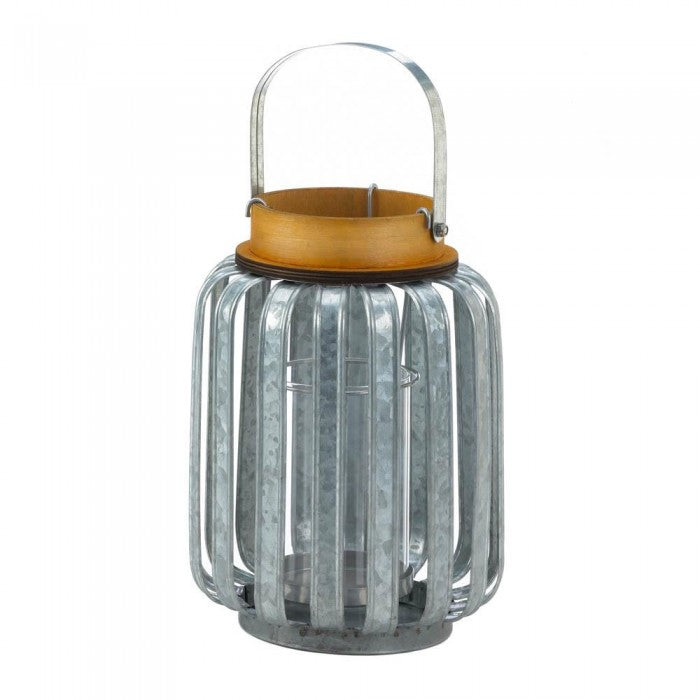 Large Galvanized Metal Lantern - Giftspiration