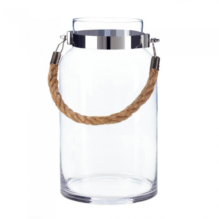 Large Hanging Glass Hurricane Lantern - Giftspiration