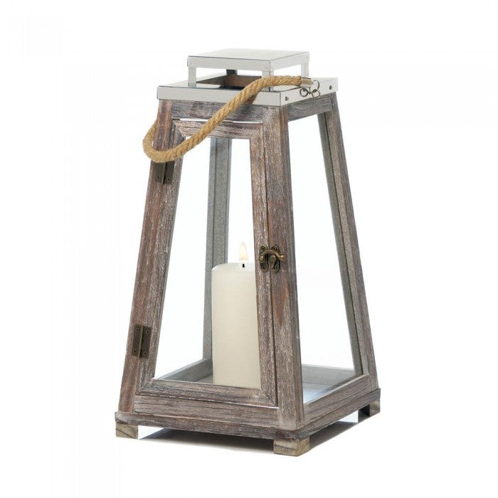 Pyramid Lantern With Rope (L) - Giftspiration