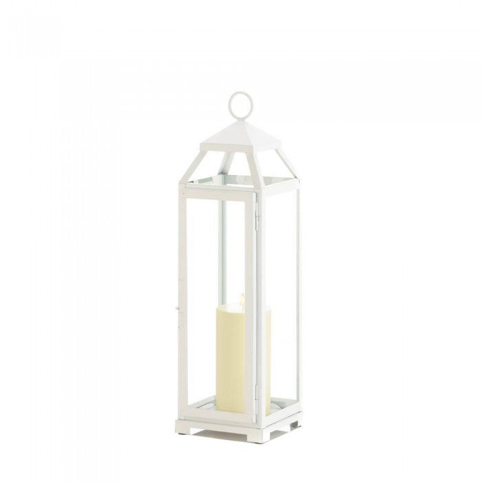 Large Country White Open Top Lantern - Giftspiration