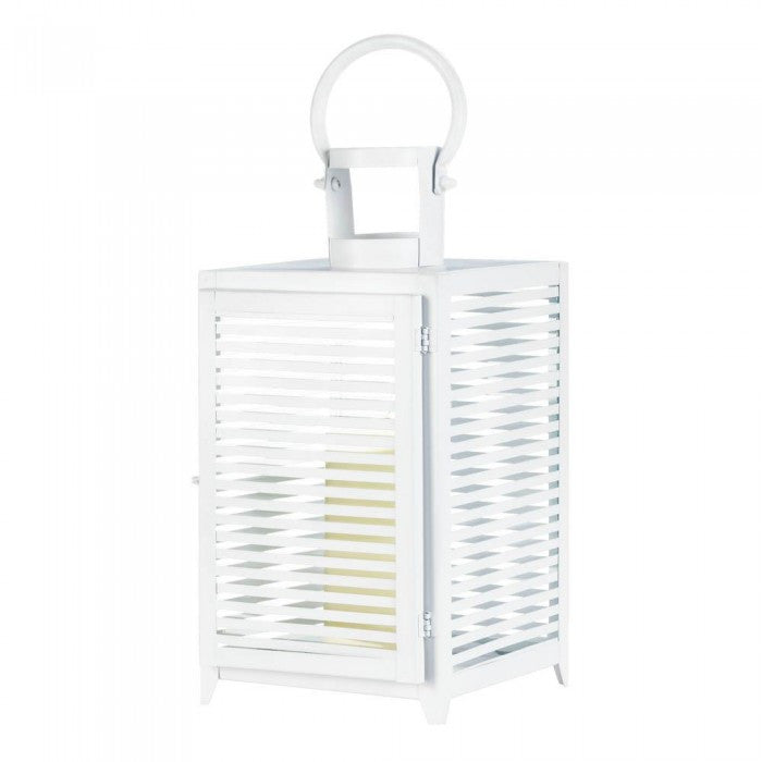 Large White Horizon Lantern - Giftspiration