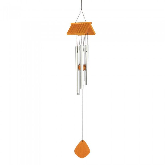 Log Cabin Roof Wind Chimes - Giftspiration
