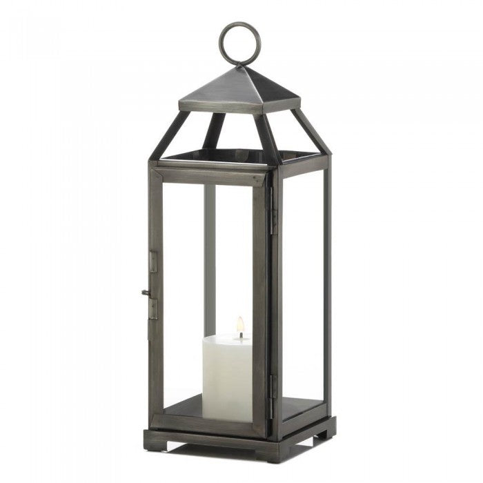 Medium Brushed Pewter Lantern - Giftspiration