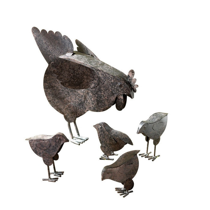 Hen with Chicks Garden Sculptures - Giftspiration