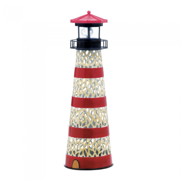 Metal Solar Lighthouse - Giftspiration