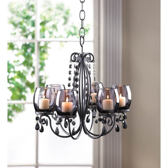 Midnight Elegance Candle Chandelier - Giftspiration