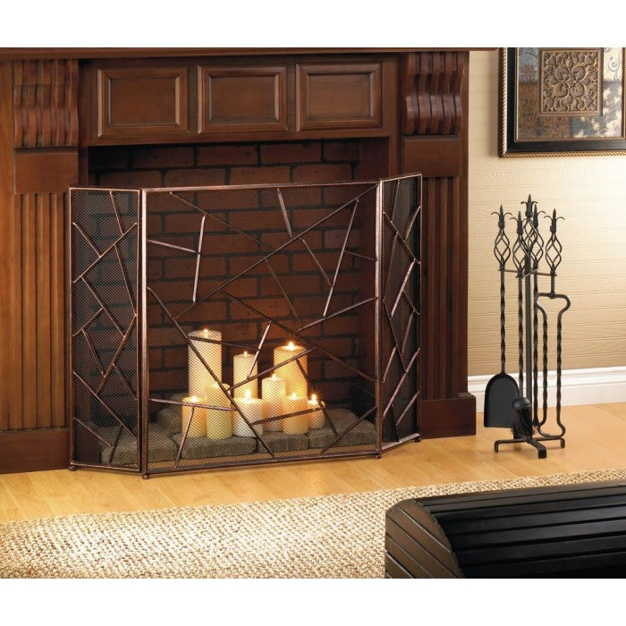 Modern Geometric Fireplace Screen - Giftspiration