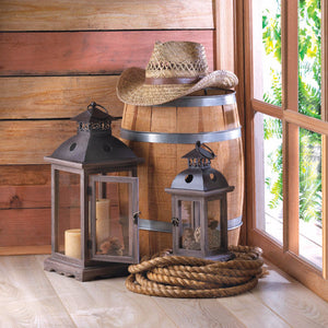 Monticello Wood Lantern (L) - Giftspiration