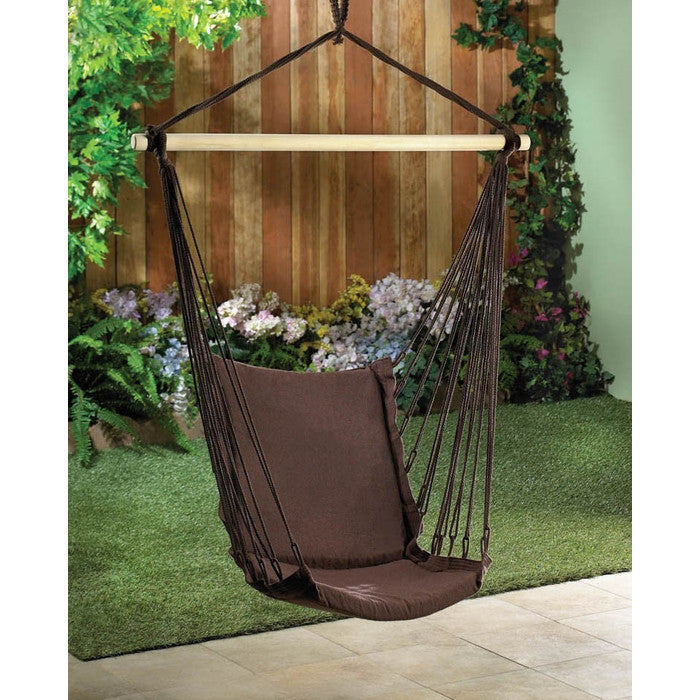 Outdoor Espresso Swing Chair - Giftspiration