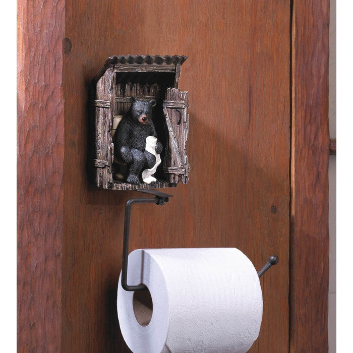 Outhouse Bear Toilet Paper Holder - Giftspiration