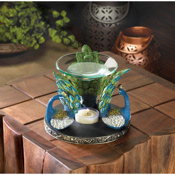 Peacock Plume Oil Warmer - Giftspiration